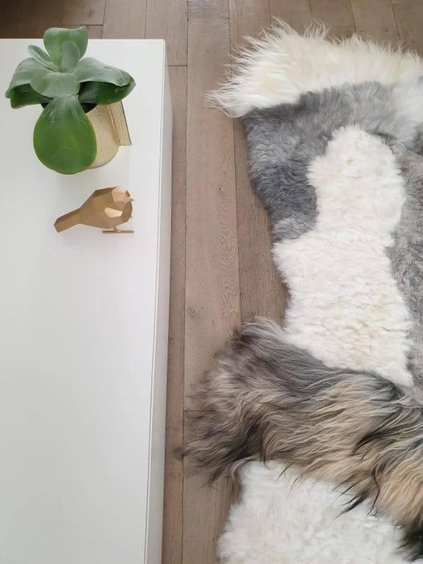 schapenvacht patchwork tapijt