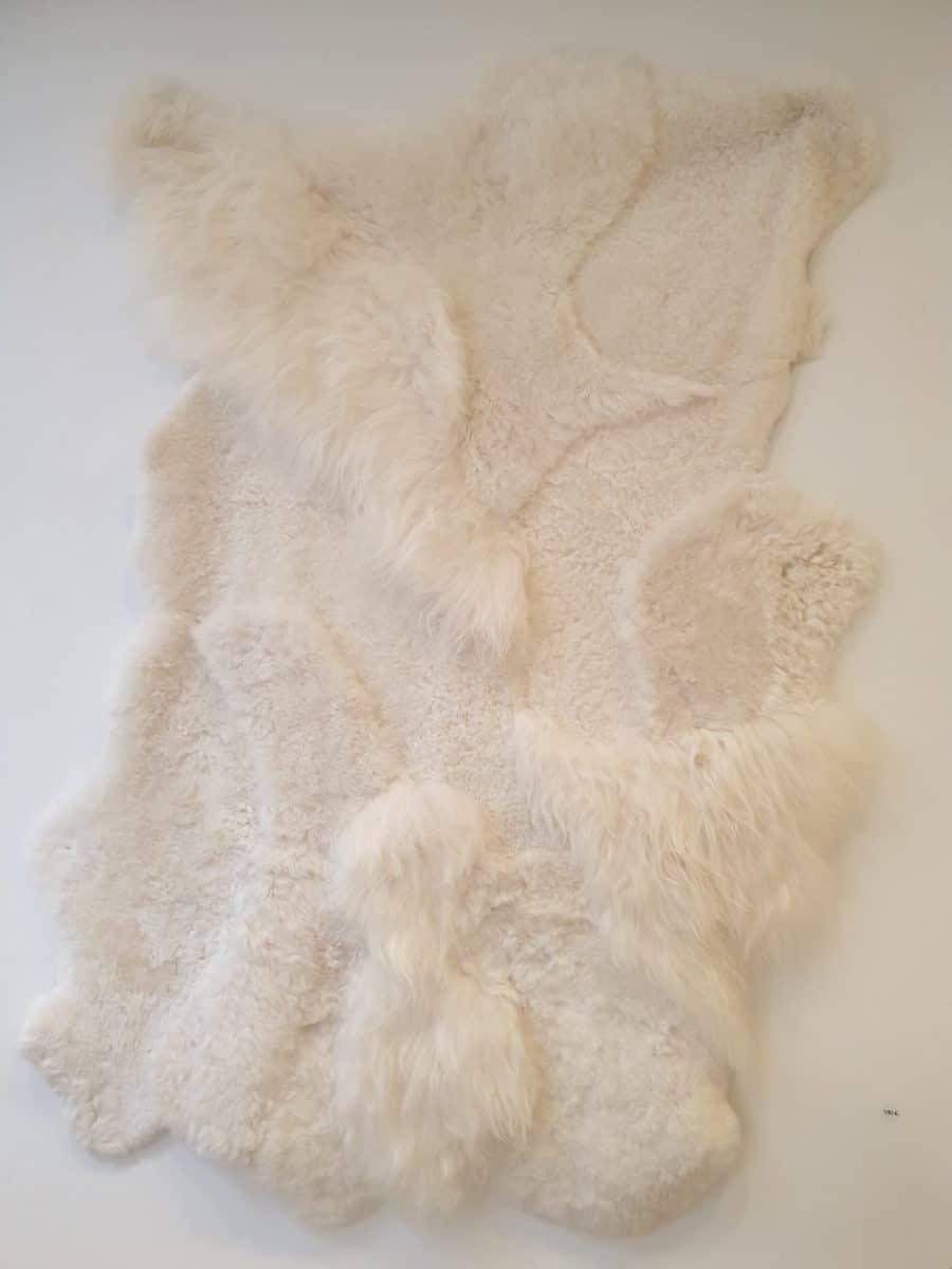 7 schapenvacht patchwork tapijt wit - Patchwork schapenvacht tapijt