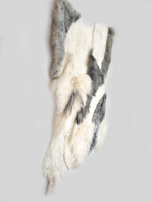 11 3 1 - Patchwork schapenvacht tapijt grijs en wit (nr. 11)