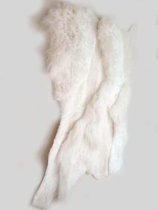 18 3 1 - Patchwork schapenvacht tapijt wit (nr. 18)