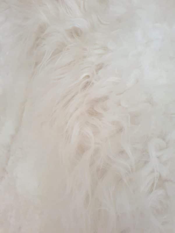 18 6 - Patchwork schapenvacht tapijt wit (nr. 18)