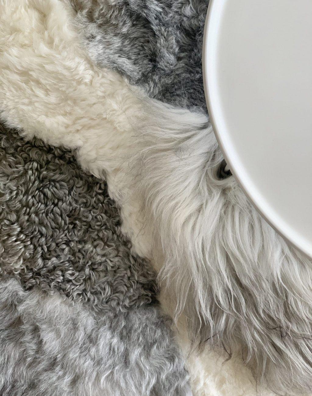 patchwork tapijt grijs & wit